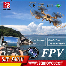 MJX 2016 Newest Product X401H 2.4G 4-Channel mobile phone controlled toys Height Hold rc Drone with FPV Camera