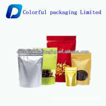 dried fruit plastic food bag with zipper /customized printed dried food packaging bag