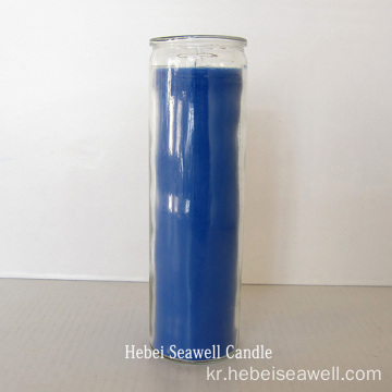 7 days paraffin wax religious glass jar candle