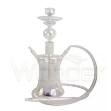 Tiny Pearl White Wholesale Glass Hookah for Women