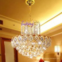 Золотой Кулон свет небольшой французский Хрустальная Люстра ЛТ-70071