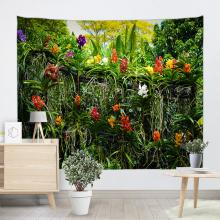 Цветы Растения Гобелен Стене Висит Лес Зеленые Цветы Ротанга Природа Стиль Гобелен для Гостиной Спальни Общежития Домашнего Декора