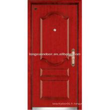 Porte blindée en acier en bois