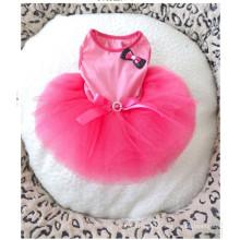 Nouveau Haute Couture Chien Princesse Robe Vent Rose Pet Mariage Vêtements De Chien Pet Dress