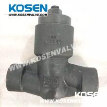 Válvulas de verificação seladas do pistão da pressão de aço forjada 2500lb