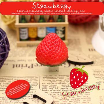 4GB Strawberry Shape PVC USB Flash Drive