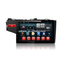Kaier usine -Quad core Plein tactile android 4.4.2 voiture dvd pour Honda Fit + OEM + 1024 * 600 + lien miroir + TPMS