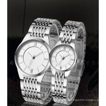 Water Resistant Quartz Movement Thin Couple Watch