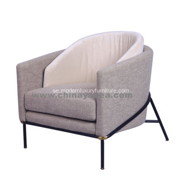 Modern Fabric File Noir Chair av Minotti