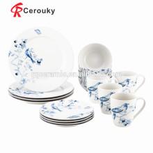 Juego de vajilla de cerámica para el desayuno