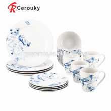 Cerâmica, pequeno almoço, dinnerware, jogo