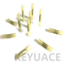 Connecteurs imperméables jaunes imperméables de fil de bout droit de rétrécissement de la chaleur