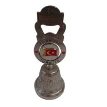 Turquia, viagem, redondo, 3D, lembrança, sino, garrafa, abridor, (f8030)