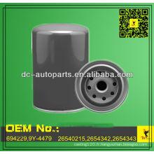 Filtre à huile de moteur d'OEM 694229,9Y-4479,26540215,2654342 de qualité pour la construction et l'équipement de ferme