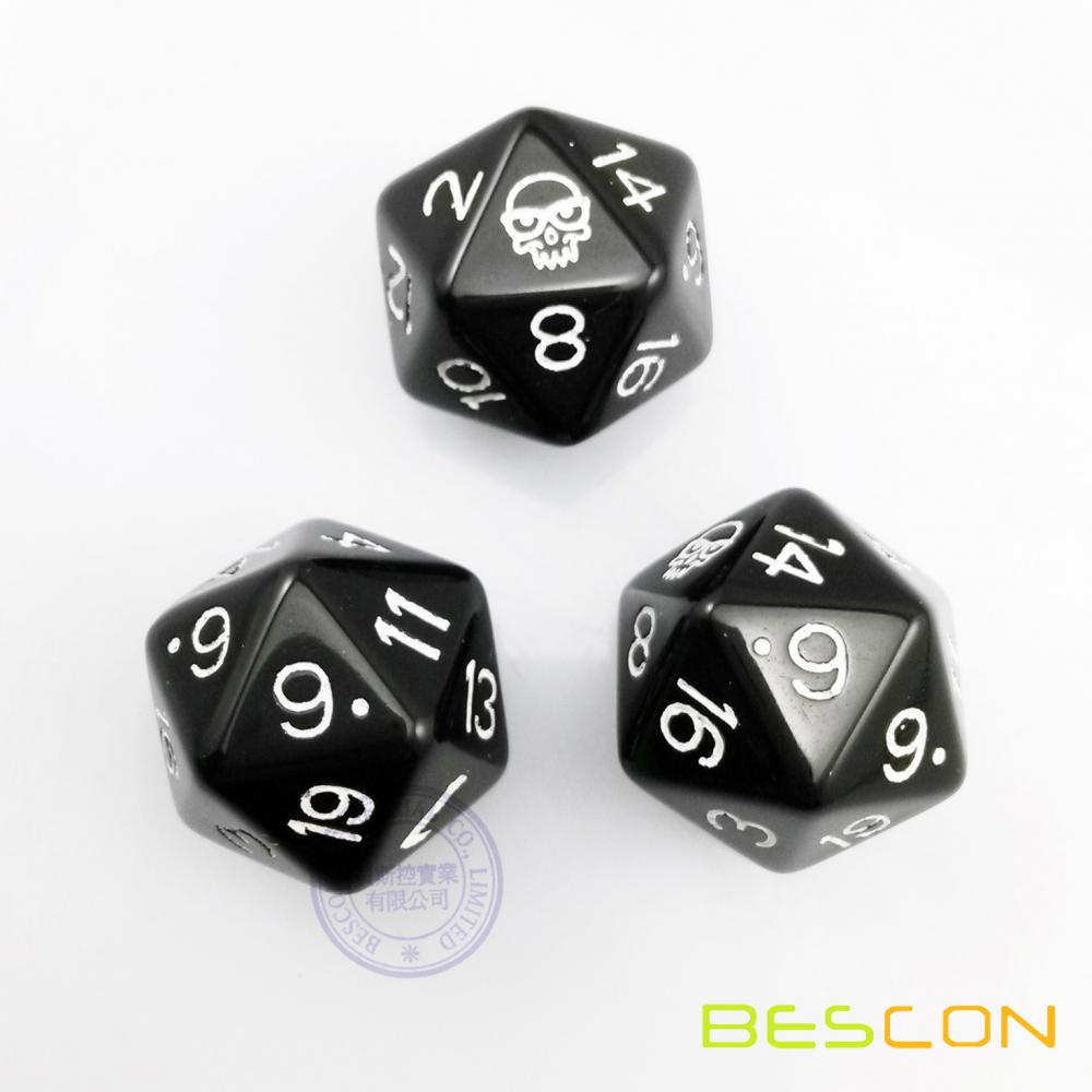 20-Sides Custom Polyhedral Dice with Engraving Logo