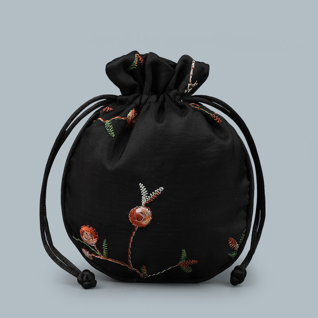 Fancy Silk Lingerie Tasche mit Logo Embroideried