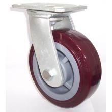 Roulette pivotante PU robuste (rouge)