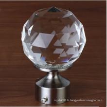 Poignée en cristal de matériel de Cabinet pour la décation de meubles