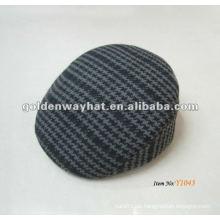 Baumwolle flach gestreiften Barett Hut zum Verkauf