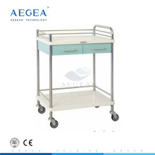AG-MT030 approved hospital ABS service clinical trolley stainless steel cart