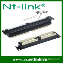 10 Inch RJ45 Network Cat5e 12 Port Patch Panel