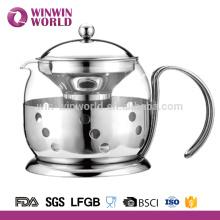 Neue kleine Glas Teekanne mit Edelstahl-Infuser