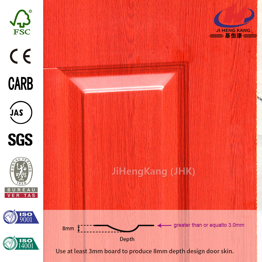 Smooth Wood Texture Natural Birch Door Skin