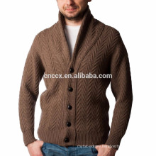15PKSW24 Men's cable knit 100% mercerized wool sweater