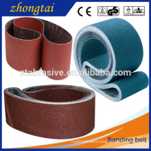Hot selling Aluminum oxide belts Flexible abrasive cloth backing sanding belt
