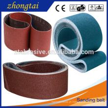 Venda quente Cintos de óxido de Alumínio flexível abrasivo pano de apoio cinto de lixa