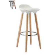 Asiento de ABS y silla de barra de piernas de madera de haya