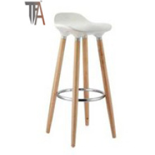 Assento ABS e cadeira de barra de madeira de faia