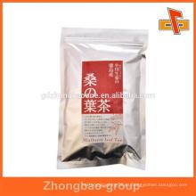 2015 paquete de plástico mini ziplock bolsa para el envasado de té