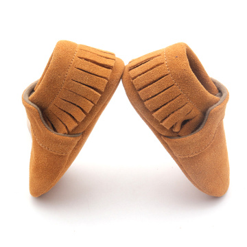 Fringe Suede Leather Baby Shoes 2017
