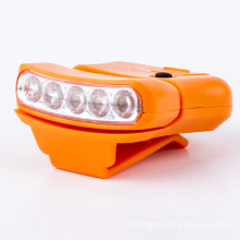 Cheapest5LED Cap hat brim clip light lamp headlamp for camping fishing hiking rotating adjustable cap light