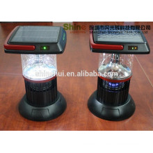 Decorative Plastic ABS/Transparent PC solar insect killer, solar hand crank lamp