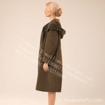 가역 스페인 Merino Shearling Coat Women