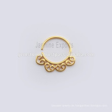 18k Gold überzogene Nasen-Ring-Körper-Schmucksache-handgemachte Körper-Ring-Septum-Schmucksachen,
