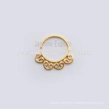 El oro 18k plateó la joyería hecha a mano del Septum del anillo del cuerpo de la joyería del cuerpo del anillo de la nariz,