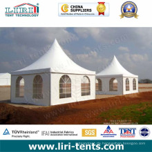 Hochwertige Pagoden-Zelte im Freien mit PVC-Fenster-Seitenwänden