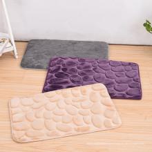 100% polyester mousse de mémoire sur mesure tapis de salle de bain