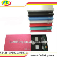 Boîtier de disque dur externe SATA USB 2.0 de 2,5 pouces