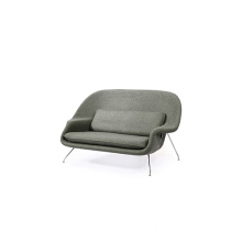 Stainless Steel Frame Settee Loveseat Womb Sofa