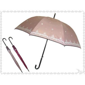 Прямоугольный черный зонтик с надписью Snow Edge (BD-32)