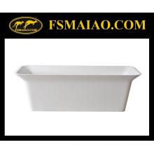 Baignoire Autoportante Rectangle Surface Solide Mat Blanc (BS-8630)