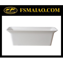 Rectangle Freestanding Bathtub Solid Surface Matt White (BS-8630)
