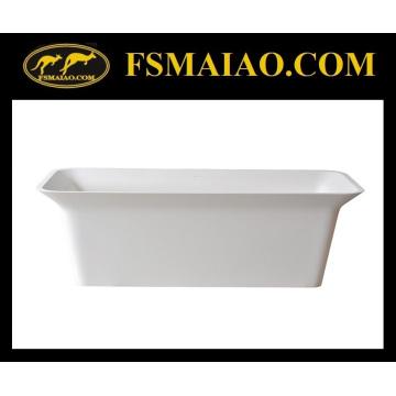 Rectangle Freestanding Bathtub Solid Surface Matt White (BS-8630)
