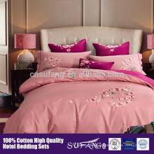 La couverture chaude de couette de coton d'hôtel de luxe de la vente 2017 d'Amazone, couvertures de literie ont placé la taille de reine