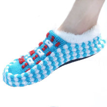 Custom Made Anti-Slip Knitted Indoor Floor Shoes Socks