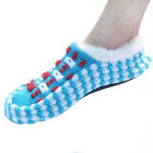 Custom Made Anti-Slip malha sapatos Indoor Floor Socks